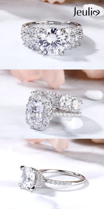 Different Styles of Engagement Rings of Jeulia Are of Elaborate Designs and Good Quality. 100% Handcrafted. Jeulia Offers High-Quality And Affordable Jewelry. #JeuliaJewelry #EngagementRing