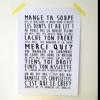 """Affiche """"Fais pas çi, fais pas ça"""" : Affiches, illustrations, posters par mademoiselle-pintade"""