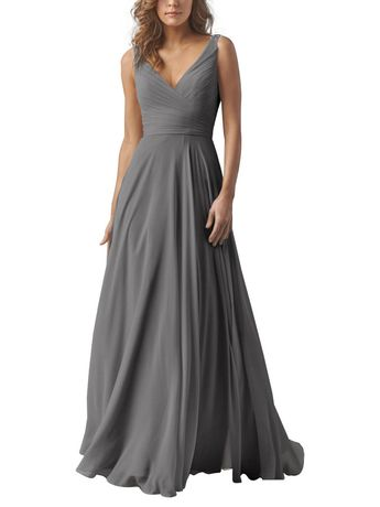 DescriptionWatters KarenFull length bridesmaid dressVneckline in front and backCriss-cross pleated detailed bodiceFull circle skirt and attached sash ties in the back Crinkle ChiffonPlease note: extra length is not available in sizes 18W-24W