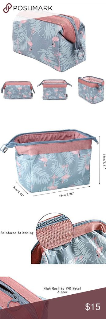 Women's flamingo makeup bag / purse Makeup Bag Light Blue Flamingo Brush Organizer  1.Tired of organizing your cosmetics everyday?  2.The makeup bag is not big enough to carry all your makeup accessories?  3.It's getting late,and you don't have the time to do your makeup,what now?   This makeup bag is design to simplify your life.You just need to put all your cosmetic accessories into this bag,and that's it,simple and easy,foolproof. This makeup bag will solve all these problems. Bags Clutches &