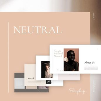 """Areumnara on Instagram: """"✨NEW✨Neutral Presentation Template is a gorgeous presentation to show your project & ideas. This multi-purpose template might help you…"""""""