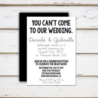 rustic wedding reception invitations casual elopement par