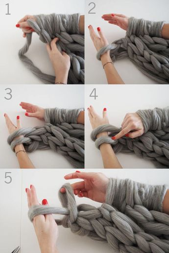 Knit an Infinity Scarf in Under 30 Minutes
