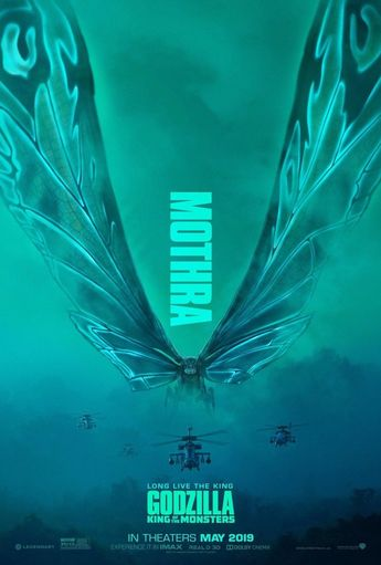 "Details about Godzilla King of the Monsters Poster 48x32"" 36x24"" Mothra Movie 2019 Print Silk"