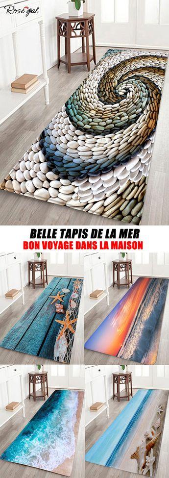 Tapis de chambre avec motif de la mer Tapis Salon rectangulaire #Rosegal #maison #chambre #salon #décoration