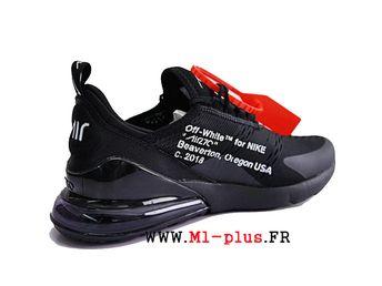 brand new 2b8d8 0cb23 Off white x Nike Air Max 270 Flyknit Officiel Chaussures de course Prix Pas  Cher Homme
