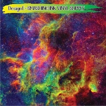 Rainbow Galaxy Space Vinyl/Printed Heat Transfer Vinyl/Patterned Vinyl/Printed 651 Vinyl/Printed 631