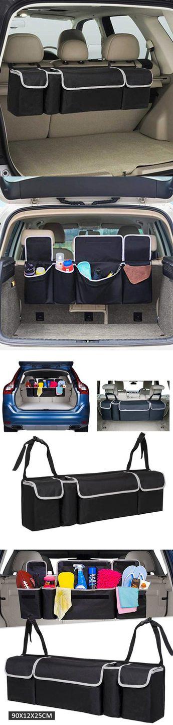 Auto Car Back Seat Multi Pocket Storage Organizer Tissue Holder Bag