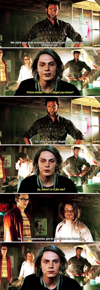 Quicksilver - X-Men: Days of Future Past >> just to be clear : Evan Peters is the best and WE need MORE Quicksilver !!!