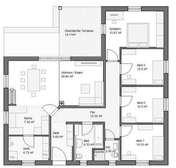 bungalow frankfurt 118qm hems winkelbungalow haus grundriss