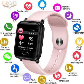 LIGE 2019 New Smart Watch Women Heart Rate Blood Pressure Monitor Fitness Tracker Smart Bracelet Pedometer Sport Smart Band+Box-in Smart Wristbands from Consumer Electronics