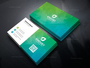 Power Professional Corporate Business Card Template 000945 - Template Catalog