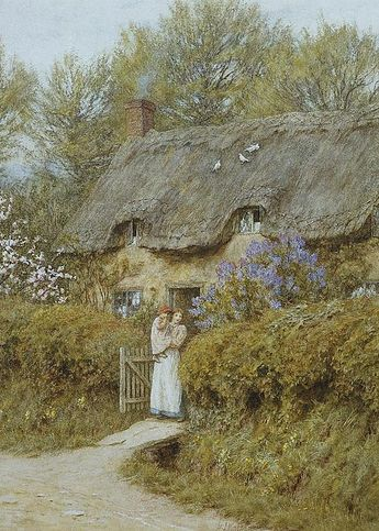 Near Freshwater Isle Of Wight Greeting Card for Sale by Helen Allingham