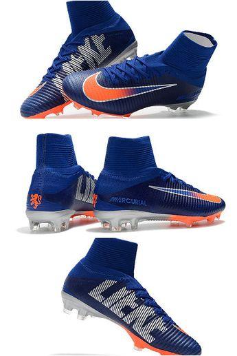 9be6b5cb356 Nike Mercurial Superfly 5 FG ACC Dynamic Fit Boot - Blue Orange