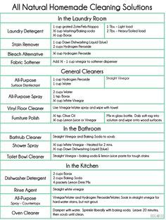 Homemade Cleaners Recipes Will Save You $$$ Lots Pinnable Charts
