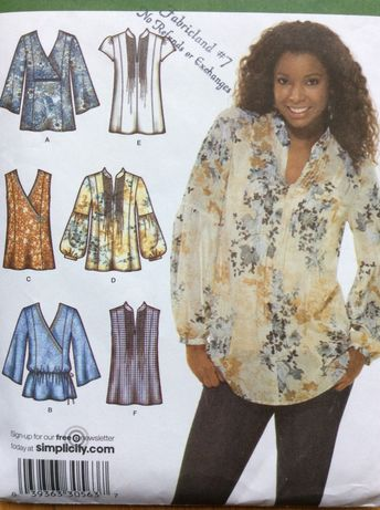 Misses' Top Pattern Size 6 8 10 12 14 Simplicity 3786