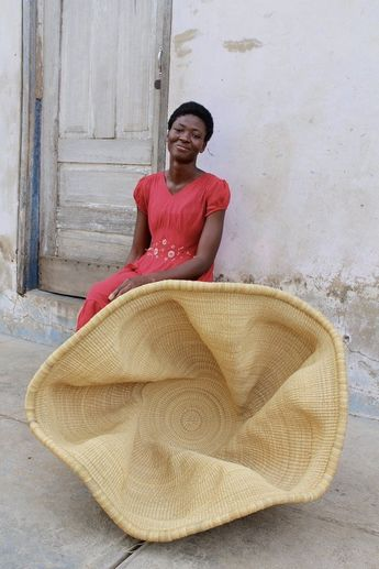"Specialty Basket made by Baba Tree weaver -Perpetual ""Pepe"" Adagaam"