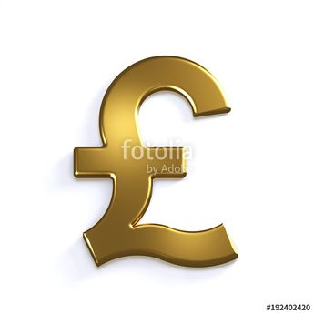 """""""Gold Pound Symbol. 3D Render Illustration"""" Stock photo and royalty-free images on Fotolia.com - Pic 192402420"""