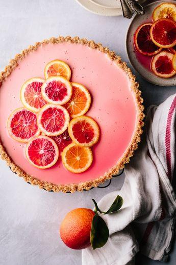 Blood orange labneh tart - Beyond Sweet and Savory