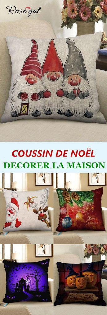 70% remise pour les coussins de Noël #Noël #salon #coussin #sofa