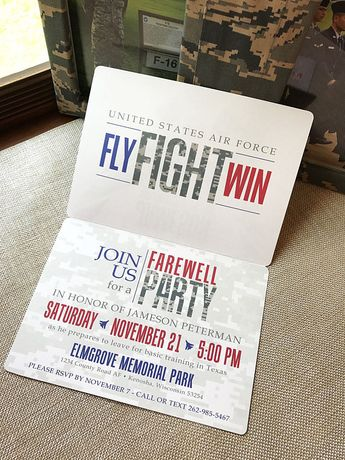 Air Force Party Invitation Air Force Card Basic Training