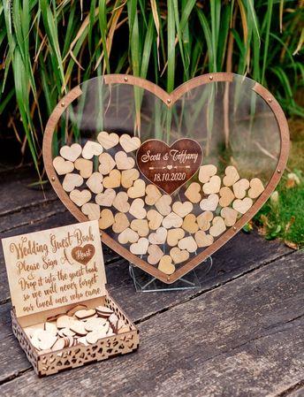 Transparent Wedding Guest Book, Wedding Guest Book, Wedding Guest Book Alternative, Clear Guest Book, Rustic Wedding Guest Book, Drop Box
