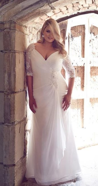 9118572c777 64 Super Gorgeous Plus-Size Wedding Dresses To Flatter You Best On Your  Special Day