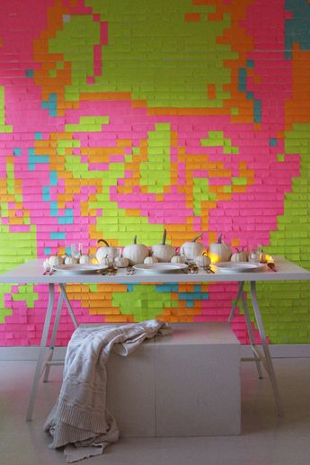 DIY Post-it ® Note Halloween-Inspired Mural