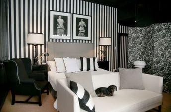 30+ trendy bedroom wallpaper stripes black and white #bedroom