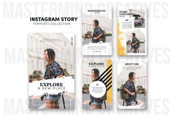 Traveler Instagram Stories Template Collection