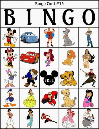 RobbyGurl\'s Creations: Disney Bingo