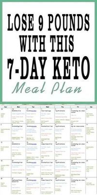 This 7-day keto meal plan will help you get started on a keto diet AND lose weight in half the time. #ketomeal plan