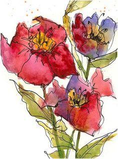 Flowers by Martha Lever, Art du Jour