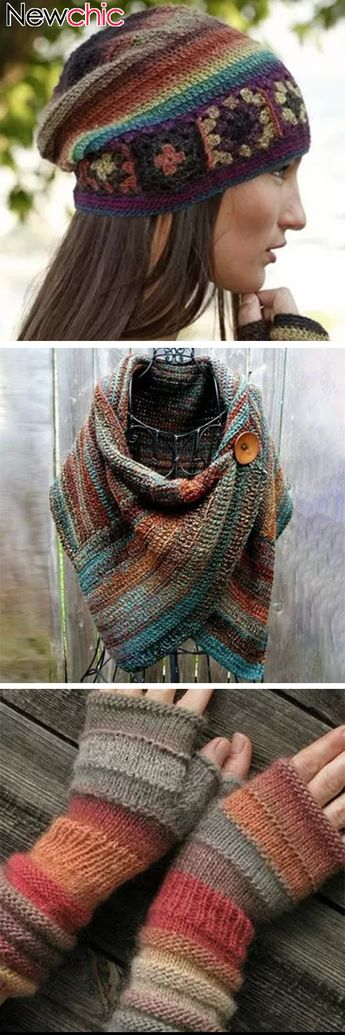 Shop Today Women's Casual Multicolor Stripes Round Neck Scarves