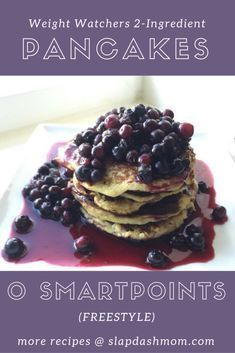 2 Ingredient Friendly Weight Watchers Pancakes – Zero Points Freestyle