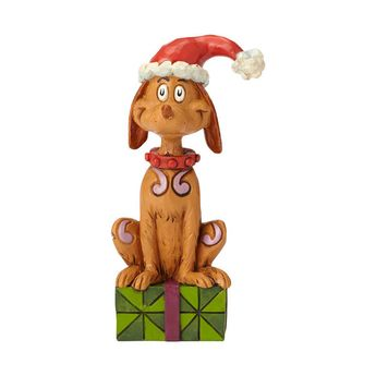 Max with Santa Hat Figurine | Grinch