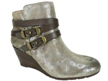 83dbcef36b1 Details about Sofft Women s Oakes Wedge Booties Anthracite Suede Size 7.5fM