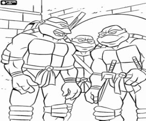 Coloring Teenage Mutant Ninja Turtles Coloring Pages