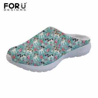 b65d1c879 FORUDESIGNS Cute Jack Russel Pet Dog Pug Sandals Fashion Women Summer Beach  Water Mesh Shoes Female