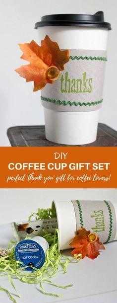 DIY Coffee Cup Gift Set