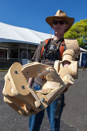 Wooden Bionic Arm by the other Martin Taylor, via Flickr