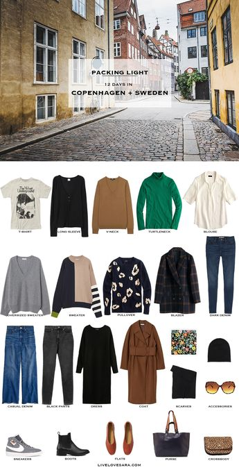 What to Pack for Copenhagen, and Sweden in Spring