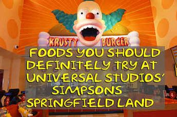 "The Best ""Simpsons""-Themed Foods To Eat At Universal Studios' Springfield Land"