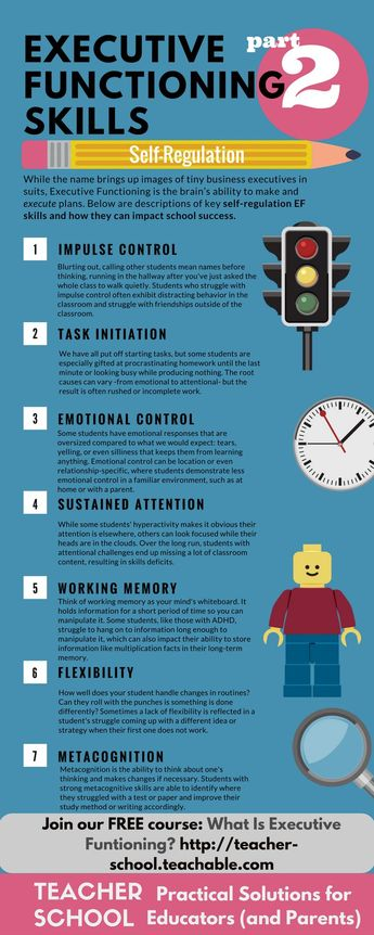 great rundown of executive functioning skills