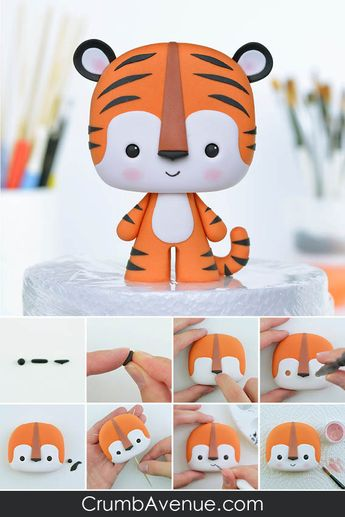 Tiger PDF Cake Topper TUTORIAL with TEMPLATES
