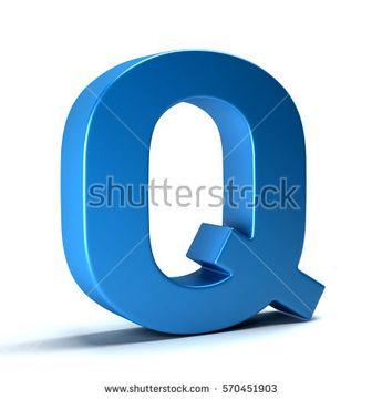 Q Letter Icon. 3D Render Illustration