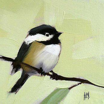 21 Angela Moulton Animal Bird Canvas 16x16 Bluebird No