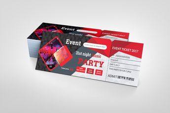 Printable Party Ticket Template 002416 - Template Catalog