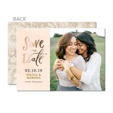 Forever Laced: Foil Save The Dates