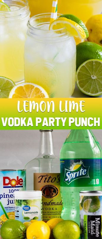 Lemon Lime Vodka Party Punch is the perfect summer cocktail recipe! With just a few ingredients it tastes like juice and your guests will love it.